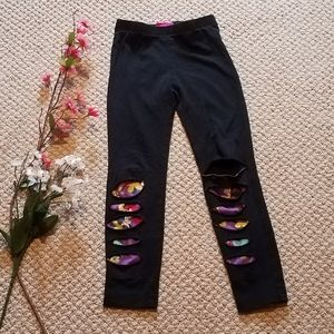 Trolls brand full length distressed leggings